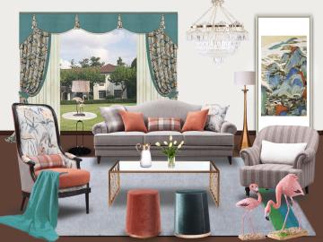 田园美式客厅