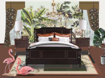 田园美式卧室